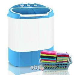 Compact Portable White/Blue Mini Washing Machine and Spin Dryer