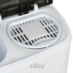Compact Twin Tub Washing Machine Fast Dryer & Efficient Spin Washer Save Space