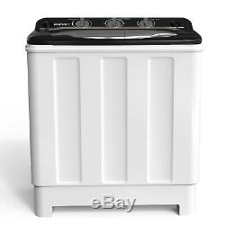 Compact Washing 24LBS Machine Twin Tub Washer Spinner Dryer Portable Laundry
