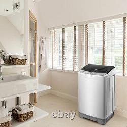 Full-Automatic Wash Machine Portable Compact Laundry Washer Spinner withDrain Pump