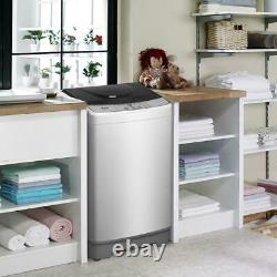 Full-Automatic Washer Machine 13.3Lbs Laundry Washer LED 10 programs Selections