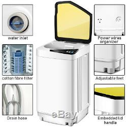 Full-Automatic Washing Machine 10 lbs Washer/Spinner Germicidal UV Light Yellow