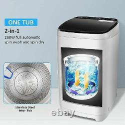 Full Automatic Washing Machine, 2-in-1 Portable Washer for Home Dorm RVs