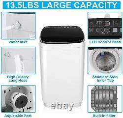 Full-Automatic Washing Machine Portable 2 IN 1Washer Spin Dryer Compact Laundry