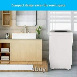 Full-Automatic Washing Machine Portable Compact Laundry Washer Spin Dryer 2 IN 1