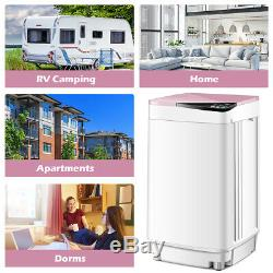 Full-Automatic Washing Machine Portable Washer 10 lbs Washer/Spinner Pink