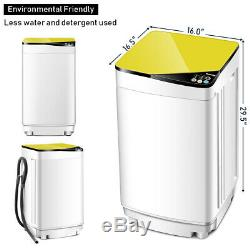 Full-Automatic Washing Machine Portable Washer 7.7 lbs Washer/Spinner Yellow