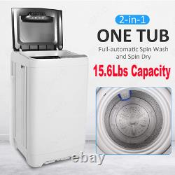 Full-Automatic Washing Machine Portable Washer and Spin Dryer 10 programs 8Level