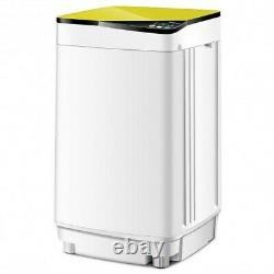 Full-automatic Washing Machine 10 lbs Washer / Spinner Germicidal-Yellow