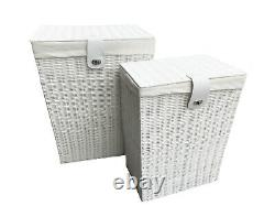 Grey Laundry Basket Home Bathroom Storage Washing Clothes With Lid Lock
