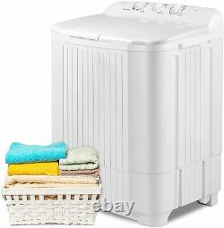 Large Auto Compact Washing Machine Twin Tubs Top-Load Laundry Washer Dryer