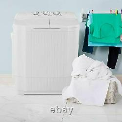Large Compact Portable Washing Machine Twin Tubs Laundry Washer and Dryer 2 IN 1