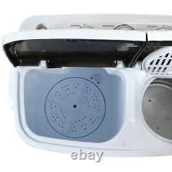 Mini Washing Machine Compact Portable Washer & Dryer with Spin Dryer, White