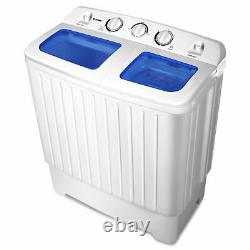 Mini Washing Machine Twin Tub Washer Spin Dryer Clothes Cleaner 2 in 1 Laundry