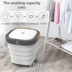 Moyu Foldable Portable Compact Bucket Washing Machine Spin Dry and Drainage Pipe