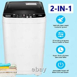NEW Full-Automatic Washing Machine Portable Washer Compact Laundry Spin Dryer