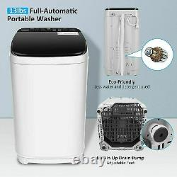 NEW Full-Automatic Washing Machine Portable Washer Compact Laundry Spin Dryer @