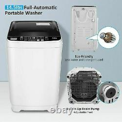 Nictemaw 2-IN-1 Auto Washing Machine Compact Laundry Washer Dryer, Max 21.5LBS ^