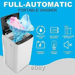 Nictemaw 2 in 1 Portable Washer Capacity Full-Automatic Washer Machine 17.8 Lbs