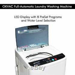 Portable Compact Full-Automatic Washing Machine 8lbs Spin Dryer Laundry White