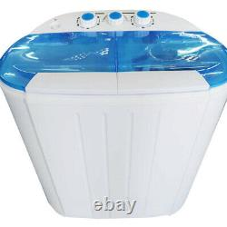 Portable Compact Mini Washing Machine Twin Tub Laundry Washer Spiner Dryer