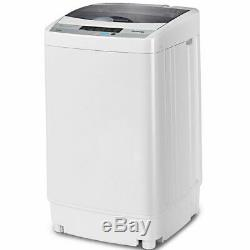 Portable Compact Washing Machine 1.6 Cu. Ft Spin Washer Drain Pump 8 Water Level