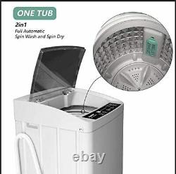 Portable Compact Washing Macine Full-Automatic 11lbs with Drain Pump LED Light