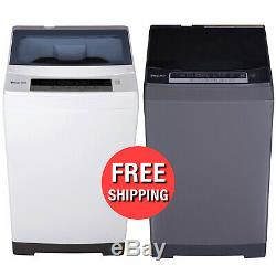 Portable Electric Washing Machine Light Washer 1.6 Cu Ft Top Load Home Laundry