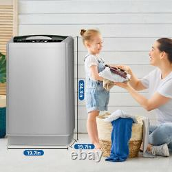Portable Full-automatic Washing Machine Compact with Drain Pump 12lbs Capacity