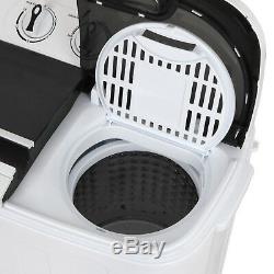 Portable Mini Compact Twin Tub 13LBS Total Washing Machine Washer Spin Spinner