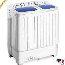 Portable Mini Compact Twin Tub Washing Machine 17.6lbs Washer Spain Spinner