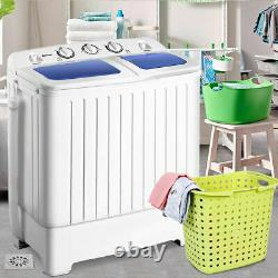 Portable Mini Washing Machine Washer Compact Twin Tub 17.6lbs Spin Spinner NEW
