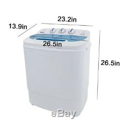 Portable Mini Washing Machine with Hose, 13lbs Capacity White/Blue
