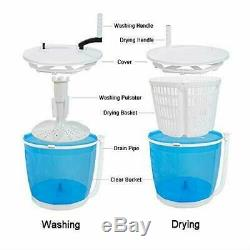 Portable Stacked Washer And Dryer Combo Mini Manual Washing Machine All In One N