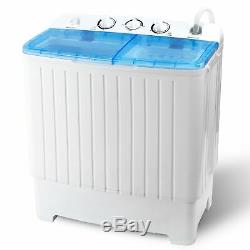 Portable Wash Machine 17.6LBS Mini Compact Twin Tub Laundry Washer Spin Dryer