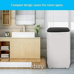 Portable Washer 13.2 Lbs Capacity Full-Automatic Compact Laundry Washing Machine