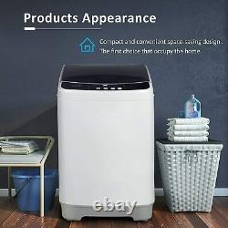 Portable Washing Machine Full-Automatic Compact 2 in 1 Laundry Washer 10lbs