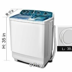 Portable Washing Machine Spin Wash 21Lbs Capacity Compact Laundry Washer Two Tub