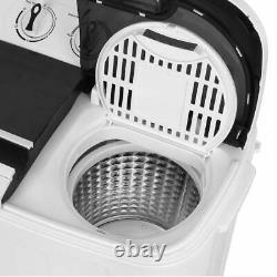 SUPER DEAL Portable Compact Mini Twin Tub Washing Machine Wash And Spin Cycle