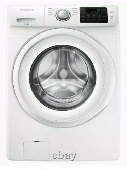 Samsung 4.2-cu ft High Efficiency Stackable Front Load Washer White WF42H5000AW