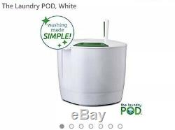 The Laundry POD LP001WHT Non-Electric Portable Washing Machine, White/Green