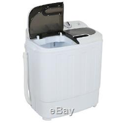 Top Load Compact Twin Tub 13lb Washing Machine Washer Spin Dryer White
