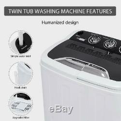 VIVOHOME Portable Mini Compact Twin Tub Washing Machine Washer Spin &Dryer 13lbs
