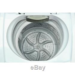 White Portable Compact Washer 0.9 Cu Ft With Durable Stainless Steel Interior Tub