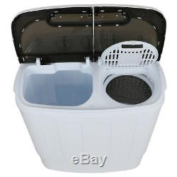 White Twin Tub Washing Machine Top Load Washer Portable Lightweight 1300 RPM