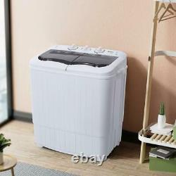 Zokop Compact Semi-Automatic Washing Machine Laundry Washer&Spin 14.3lbs 2-In-1